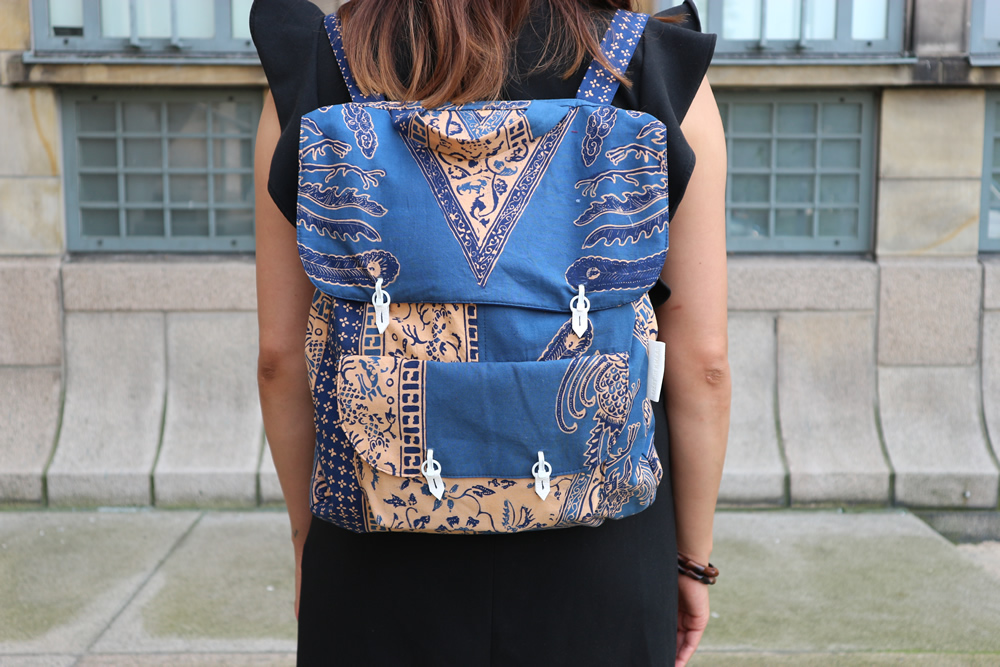 LARAS X Lizet van der knaap batik backpack
