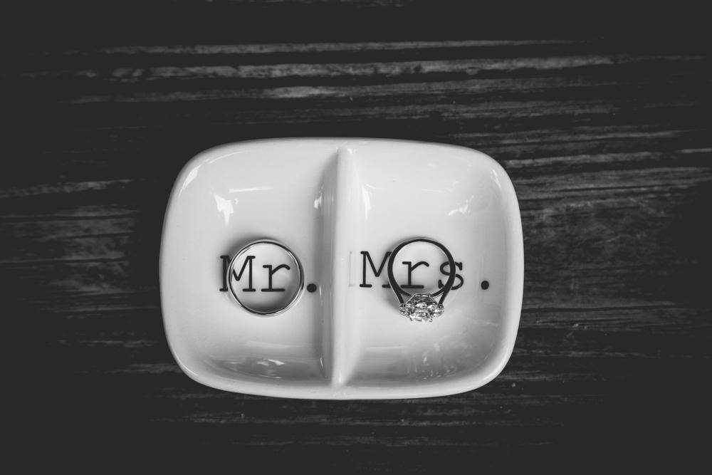 A creative idea to photograph your wedding bands.