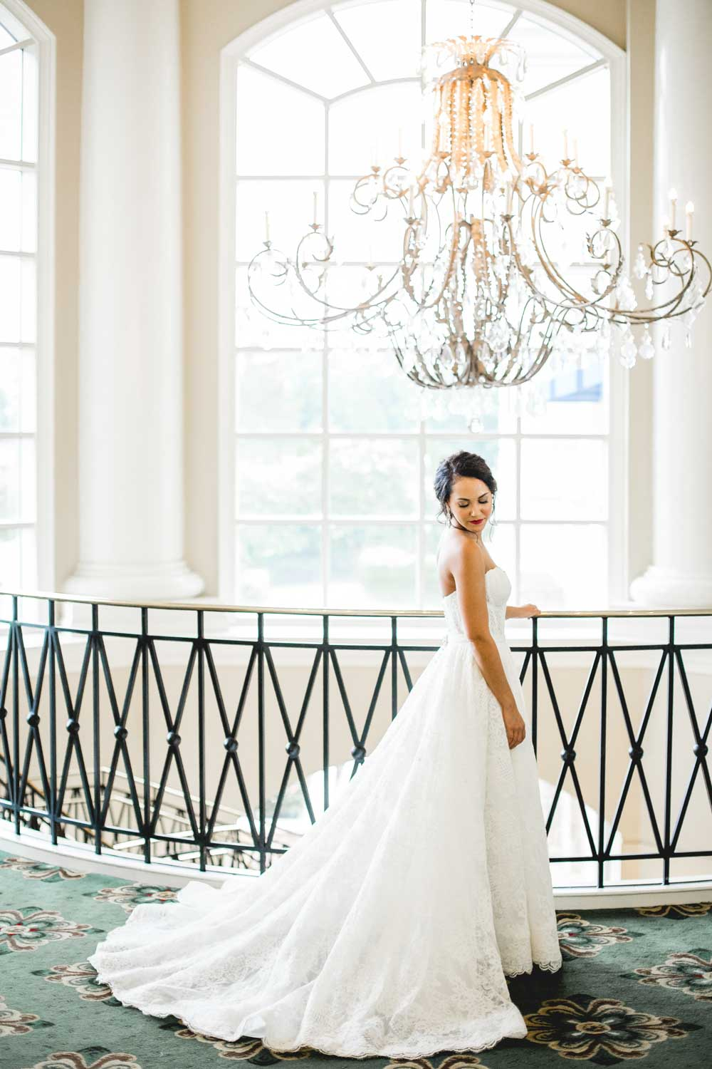 Bridal photo taken at the Ballantyne Hotel & Lodge wedding venue in Charlotte, NC. Photo taken by Daniel K. Photography