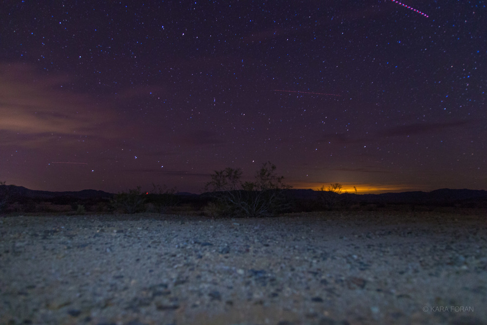 The Desert at night