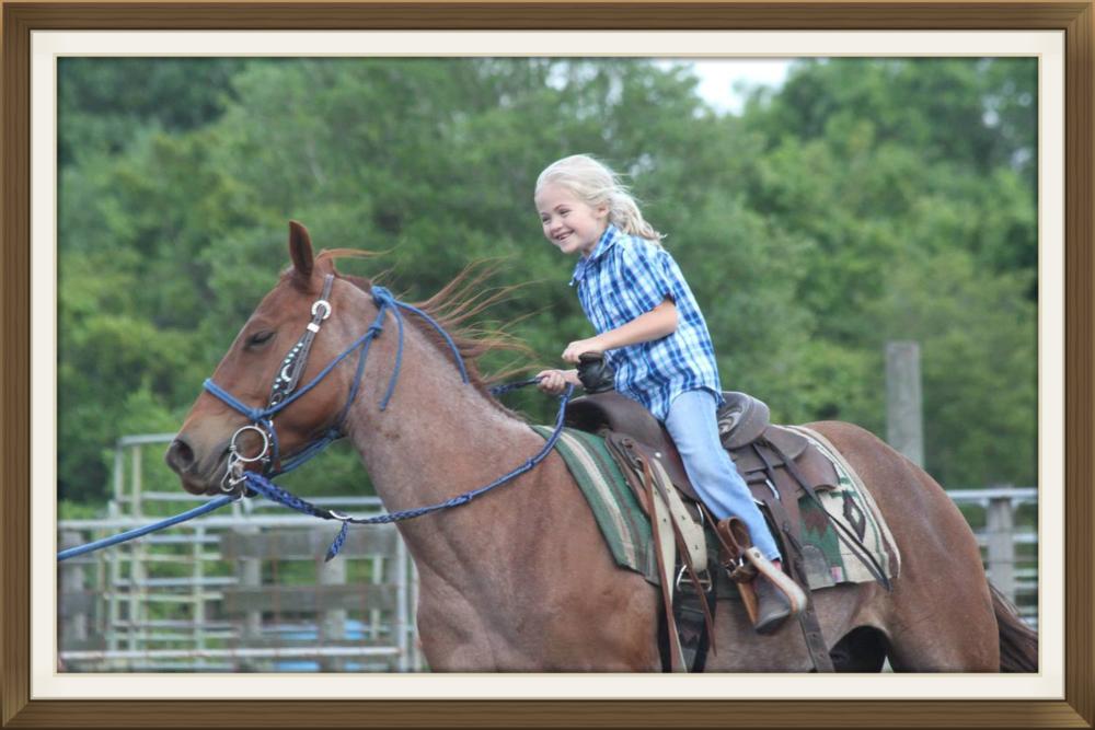 Caroline Merandi on her horse Rony