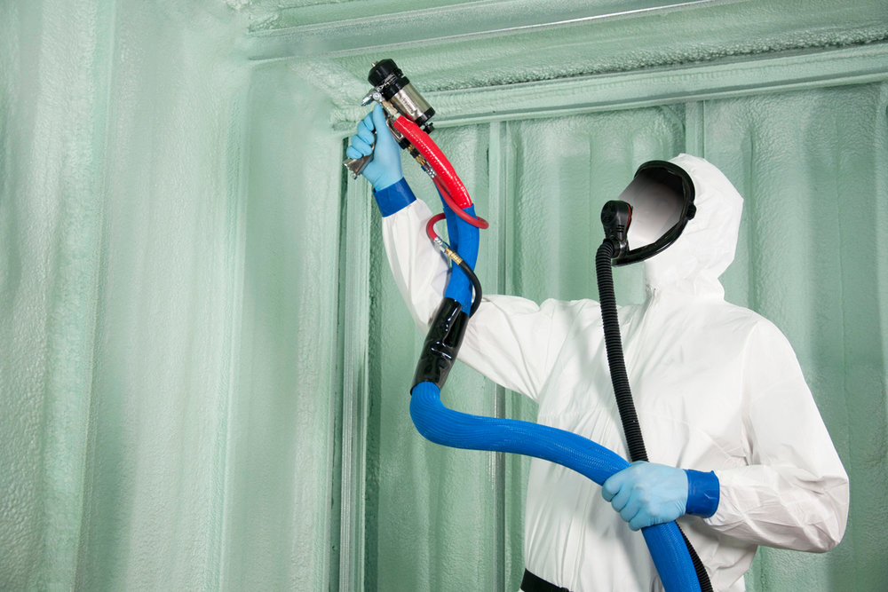 SPRAY FOAM & SPRAY FIBER INSULATION - Island is a licensed applicator of several brands of spray on fiber and polyurethane insulation. This can be used instead of blankets or boards for a more effective method of insulating areas such as parking garages, soffits or any hard access area.