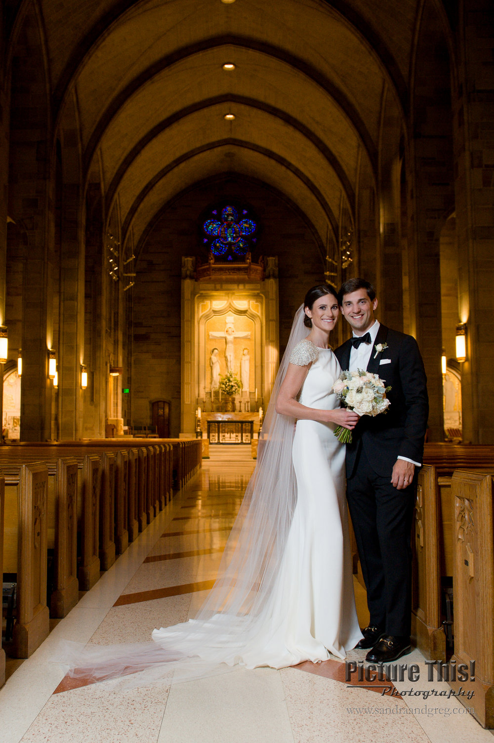 Lindsey & Robert at The Cathedral of Christ the King