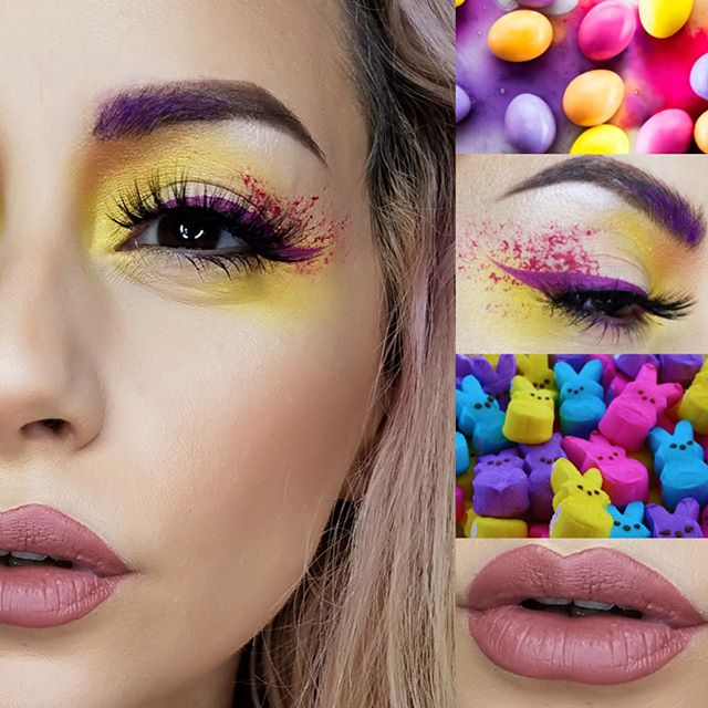 We're excited for Easter this weekend with this fun look! 🐣💐💜Get excited with FREE shipping on all orders today! Use code: SHIPFREE at checkout Product details below: ••FACE•• Extreme Creme Foundation: Caramel Creme & Butter Cup Blush: Naked Kiss Cheek highlight: Urave Shimmer: Glow Stick ••EYES•• Urave Shimmer: Electric Daisy + Eye Shadow: Tangerine  Sponged Lip Locke: Not so Innocent and Liner Lip Locke: Flirt ••BROWS•• Brow Wax! + Muddled + Brownstone + eye shadow: Pinkish Purple + Lip Locke: Flirt ••LIPS•• #LipLocke Always and Forever #Tat2uMakeup #TAT2U #Eastermakep @beautyinthe_shadows
