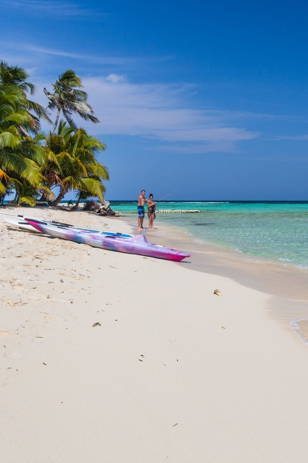 Ranguana Caye -  Take an hour boat ride to a picture-perfect 2-acre private island and spend your day in a pristine tropical paradise. Paddle board, kayak, hammock nap, sunbathe, snorkel around the island, fish, drink, eat and play beach games.