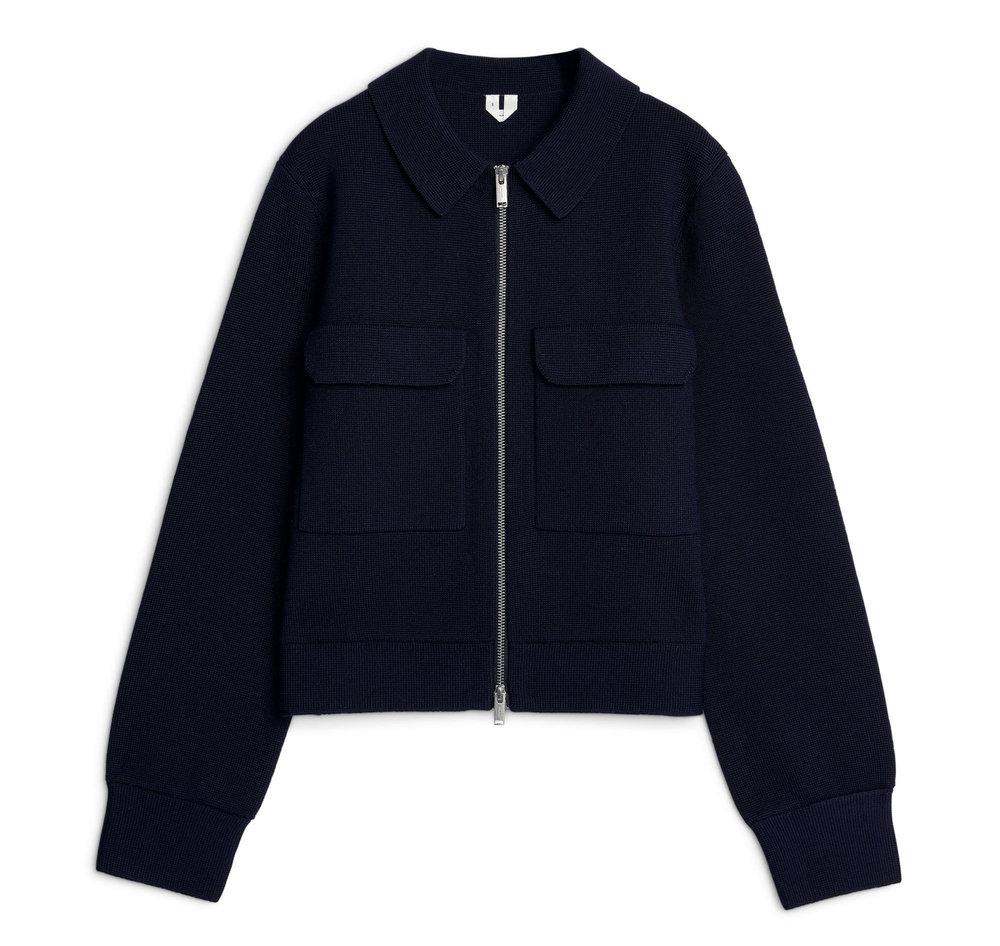 Merino Box Jacket Navy | £115