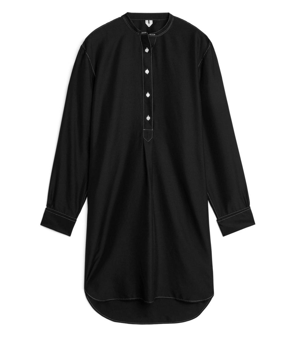 Habutai Silk Shirt Dress |£125