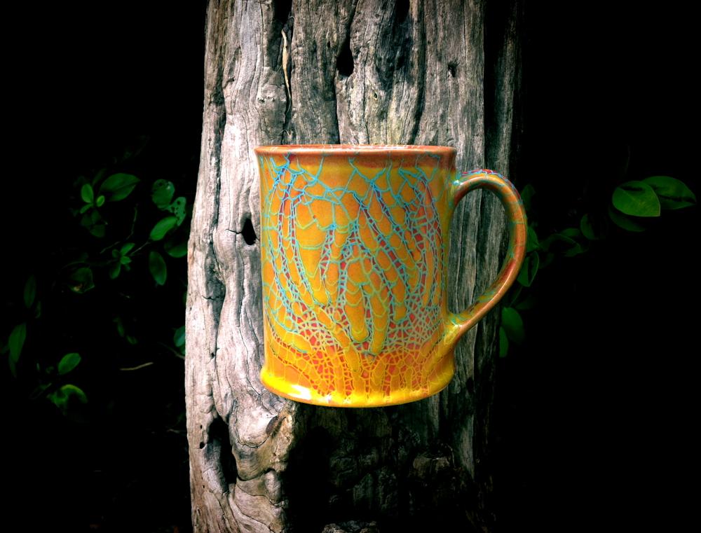 Ochre Flames Mug