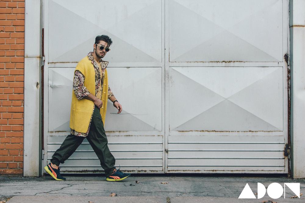 Dario - jacket PRIK, pants BOSKO JAKOVLJEVIC, headpieces FUN FUN