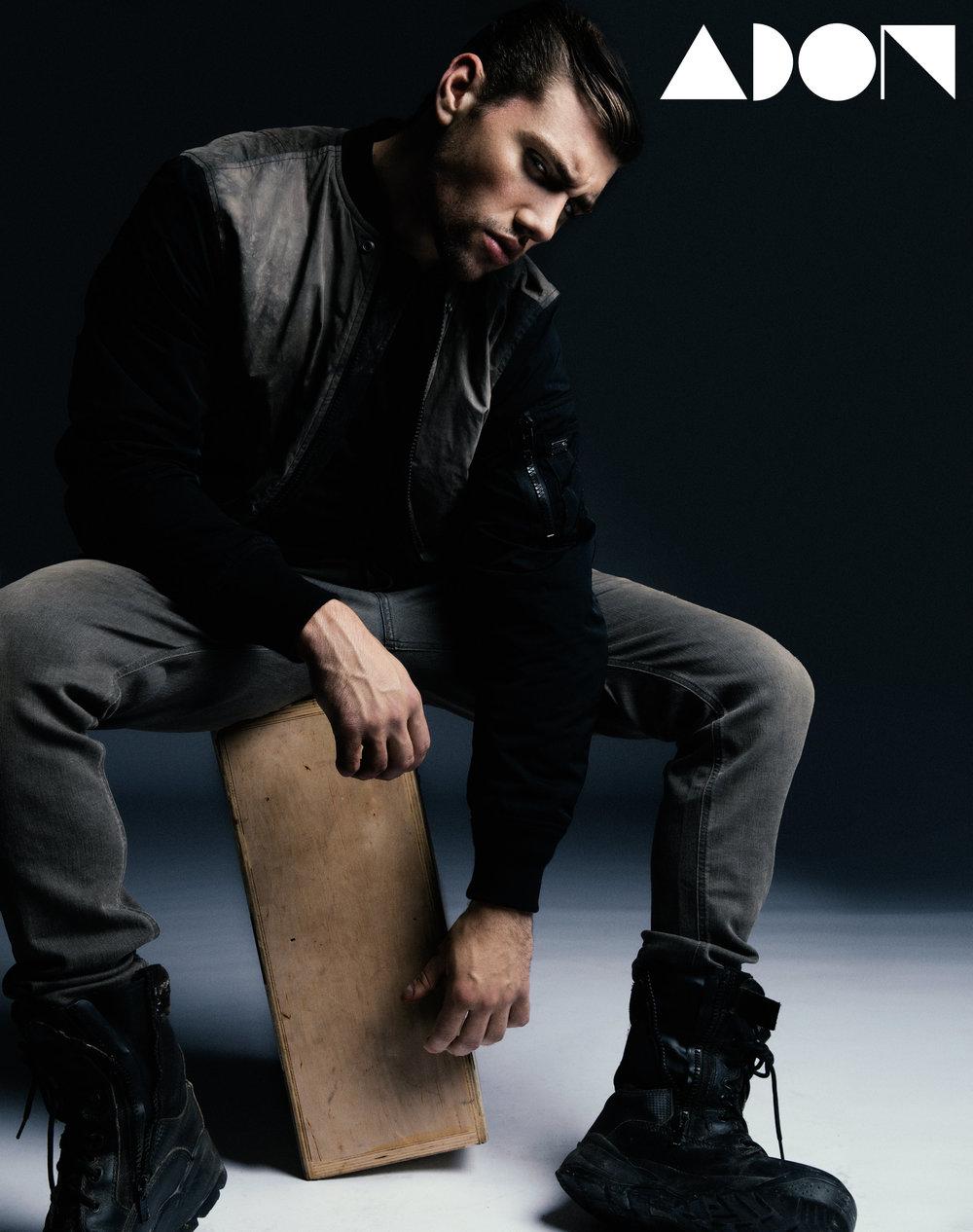Jacket: Diesel, Shirt: Diesel, Pant: Diesel, Boots: Vintage/Stylist Owned
