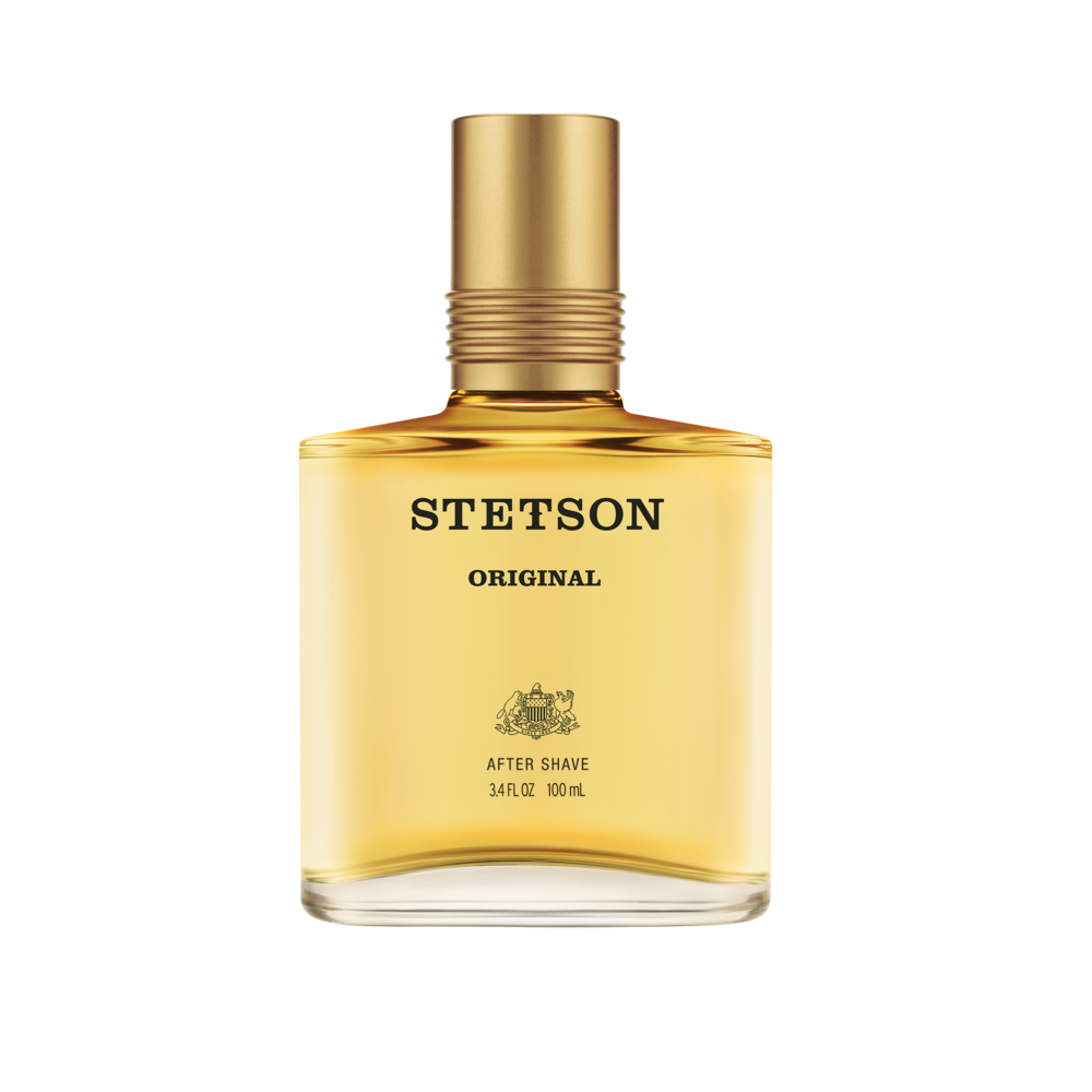 it's time to treat yourself.  Stetson Original offers Aftershave and Aftershave with Aloe  to refresh and invigorate skin with a classic woody scent…perfect after a clean shave.  The name Stetson embodies the authentic heritage and spirit of the American West. It's individuality that can never be tamed or fenced in. Stetson Aftershave carries on this legacy with fragrance for men that represent the courage, pride, and confidence of the pioneers.  ·         Top Notes – a contemporary blend of zesty Lemon and Bergamot, enveloped in dewy Citrus  The Heart – an untamed yet sophisticated Wild Rose, Cyclamen, Lily of the Valley and intoxicating Florals  The Drydown – a sensual Musk, Moss, and Balsam, complemented with warm Woods and golden Amber    Suggested retail price: Aftershave $18.99 (2oz.) and $21.99 (3.5 oz.) and Aftershave with aloe $12.99 (1.5 oz.).  Availability: All Stetson Original products available now at mass retailers, drugstores and select department stores nationwide.