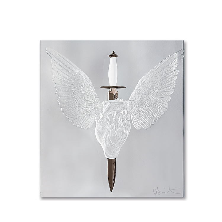 ETERNAL PRAYER Clear and Platinum Photo François Fernandez © Damien Hirst, Science Ltd and Lalique, 2017