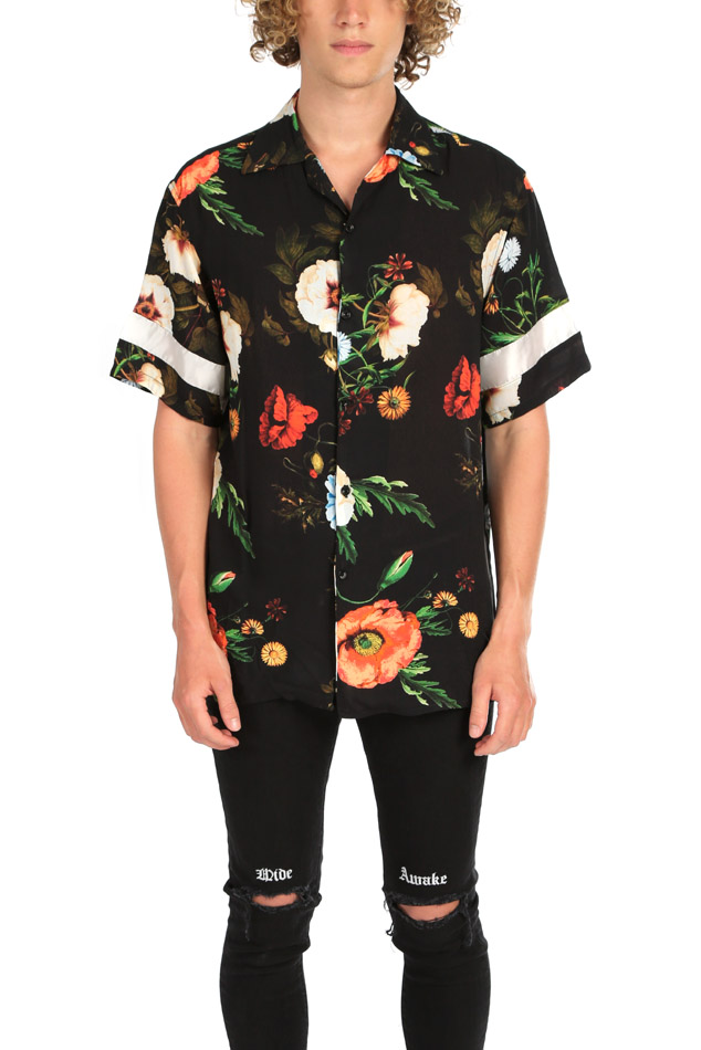 Represent Floral Button Down from  blue & cream