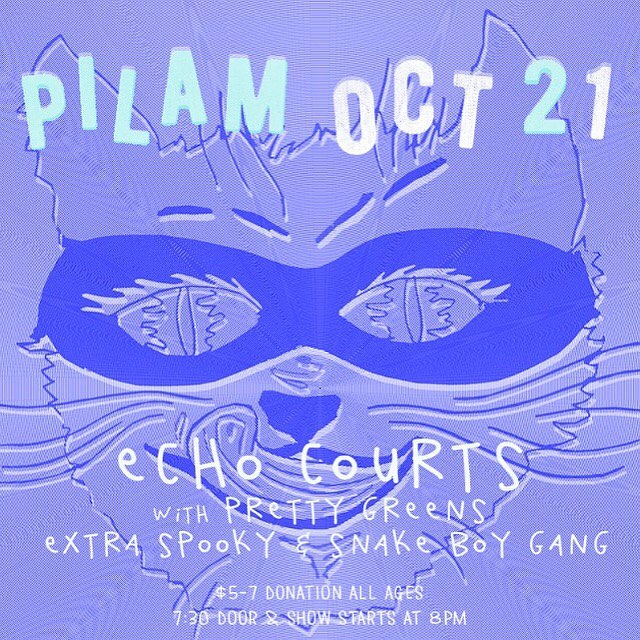 Pre-Halloween bash! Of course we want to celebrate it every day, too! Come 👀 us - 10.21 next show #pilam in #westphl with @echo_courts @snakeboygang and @extraspooky (!) 🖖🤘👐👌👻👽🤖😱