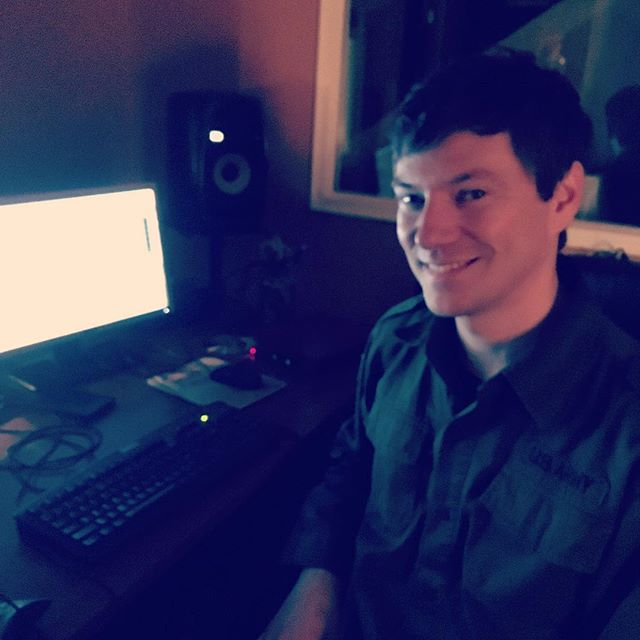 Our faithful recording engineer Pat McCay from @thesilencekit at the ready #nuendo #recording #studiotime
