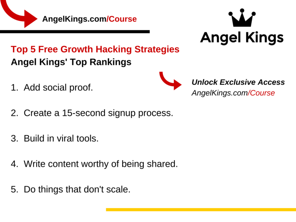 What are the best free growth hacking strategies for startups to use and increase their followers?