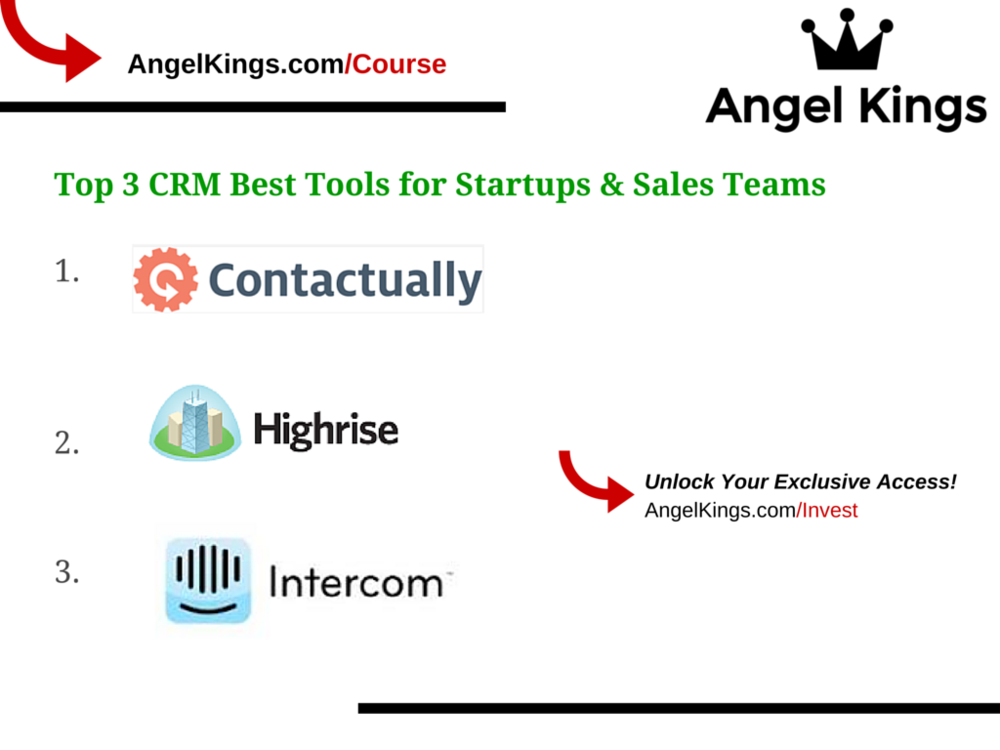 Here are the top 3 CRM Tools for Startups!