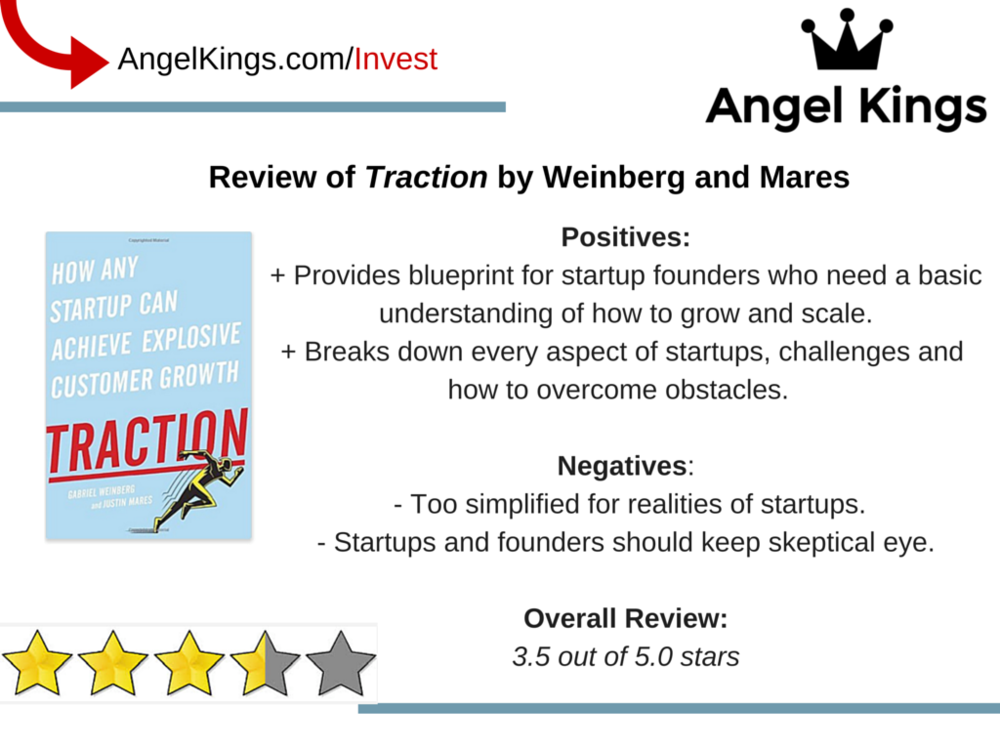 The positives and negatives of the book Traction by Gabriel Weinberg and Justin Mares.