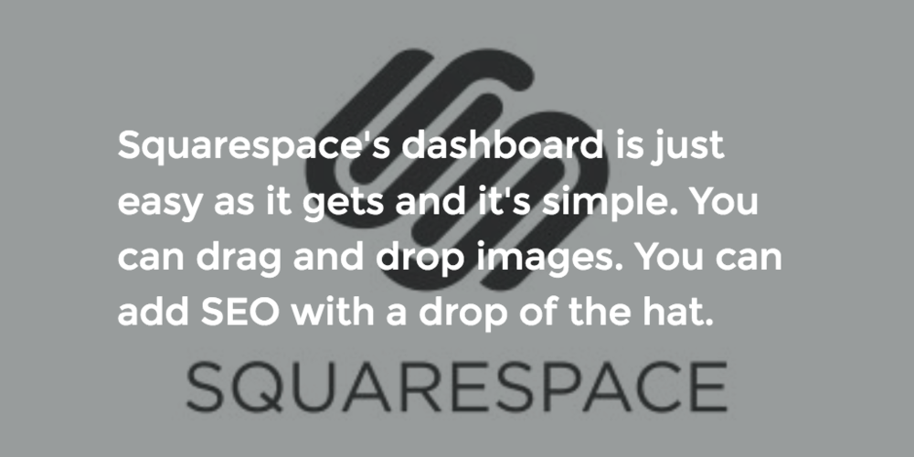 Squarespace is the website creator platform we recommend to startups.