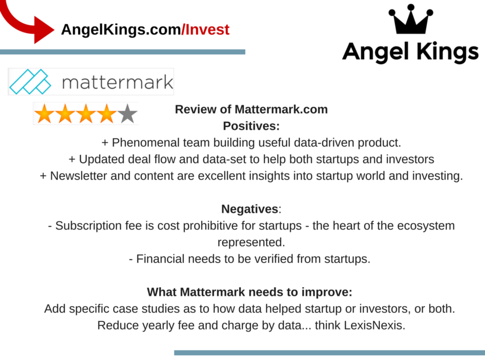 Do we recommend is Mattermark for investors?