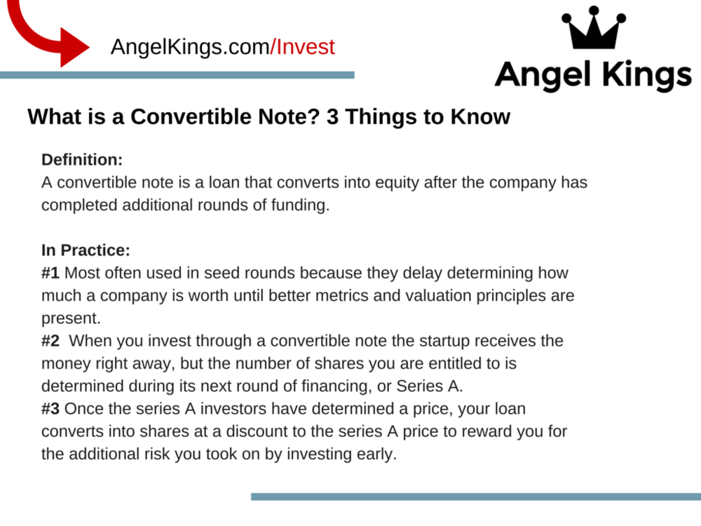 What are the important things you need to know about convertible note?