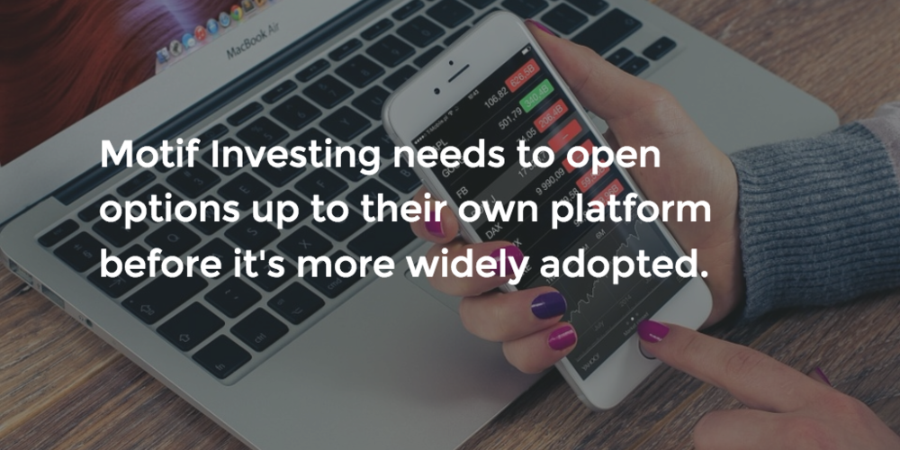 How else can Motif Investing improve their platform?