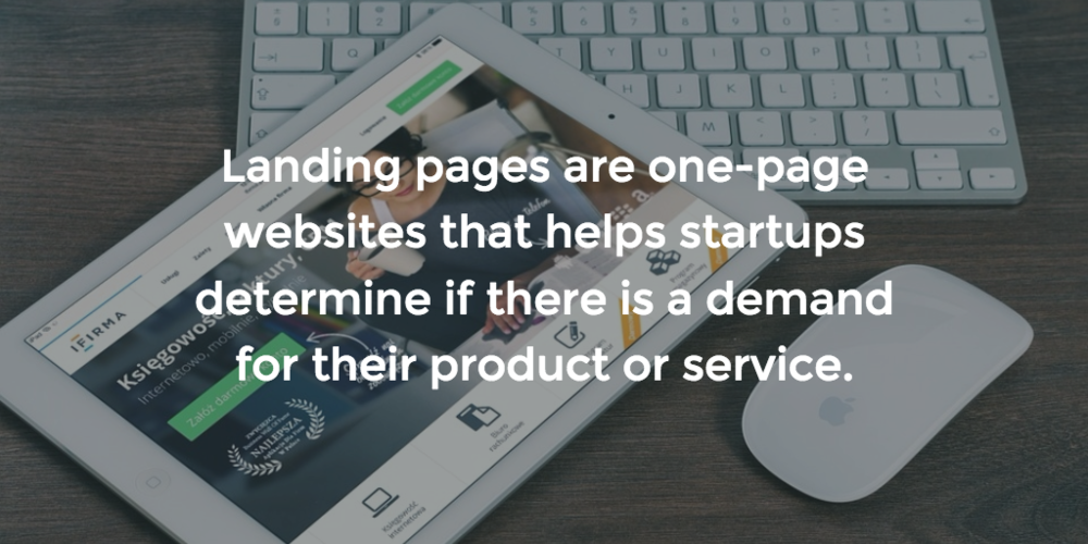 Why is it important for startups to create a beautifully designed landing pages?