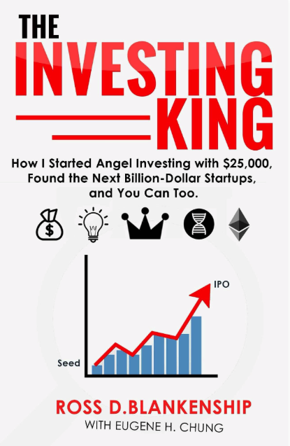 "Click here to buy the #1 ranked  book on startups , ""The Investing King."""
