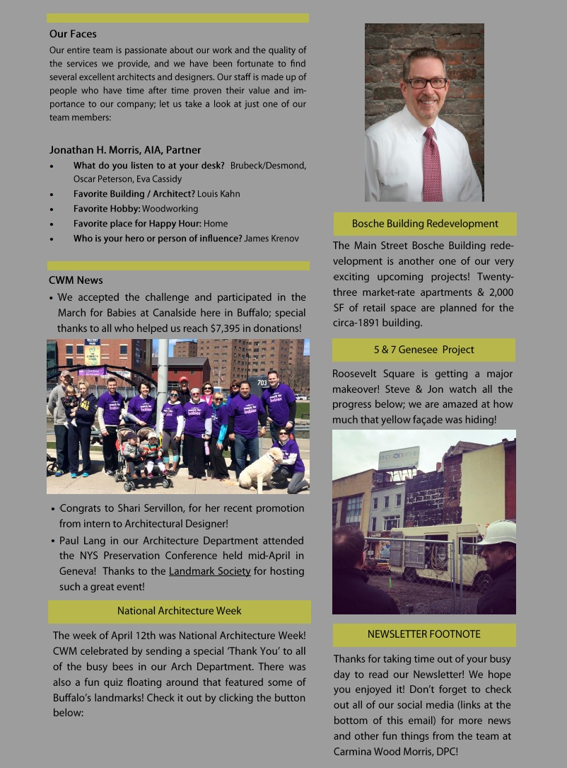 CWM April Newsletter 2