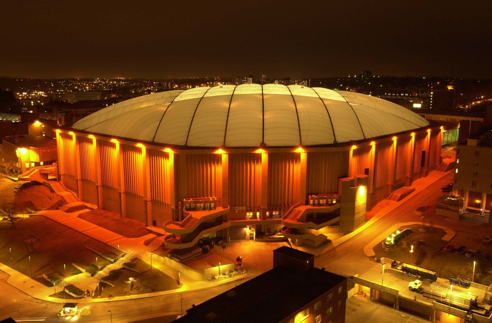 Syracuse houses the Carrier Dome (also known as the Loud House); image courtesy of Google