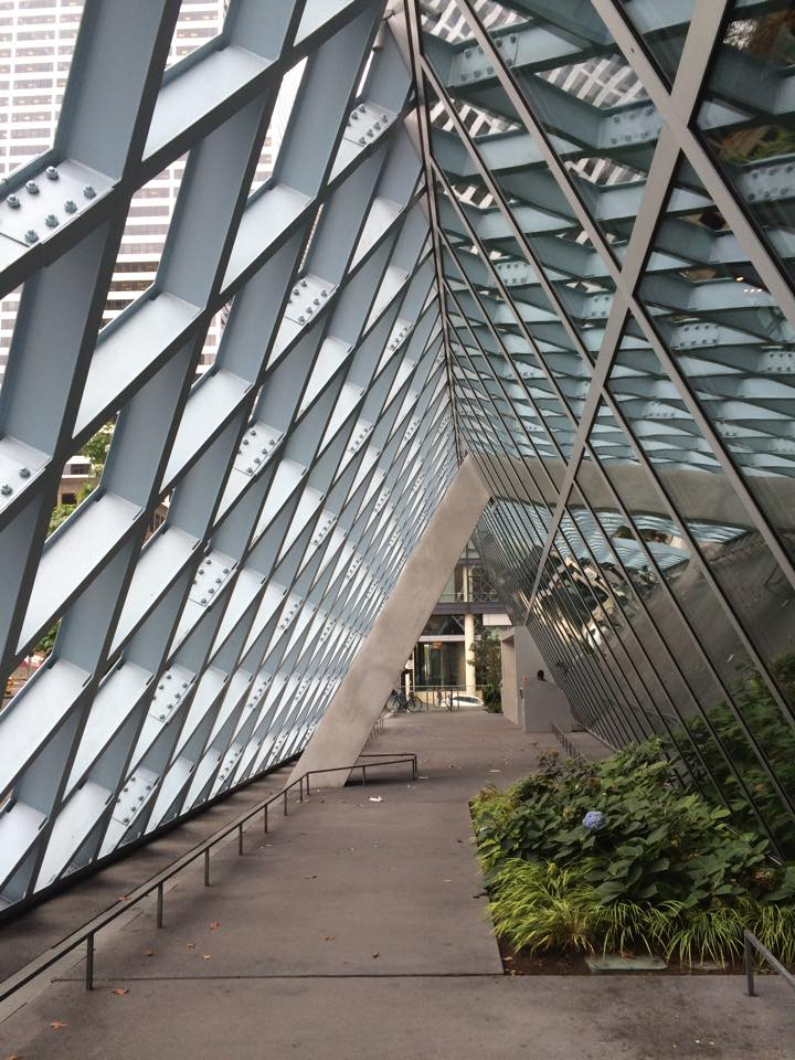 Seattle Public Library Exterior Walkway.  Photo Credit: Darra Kubera, CWM
