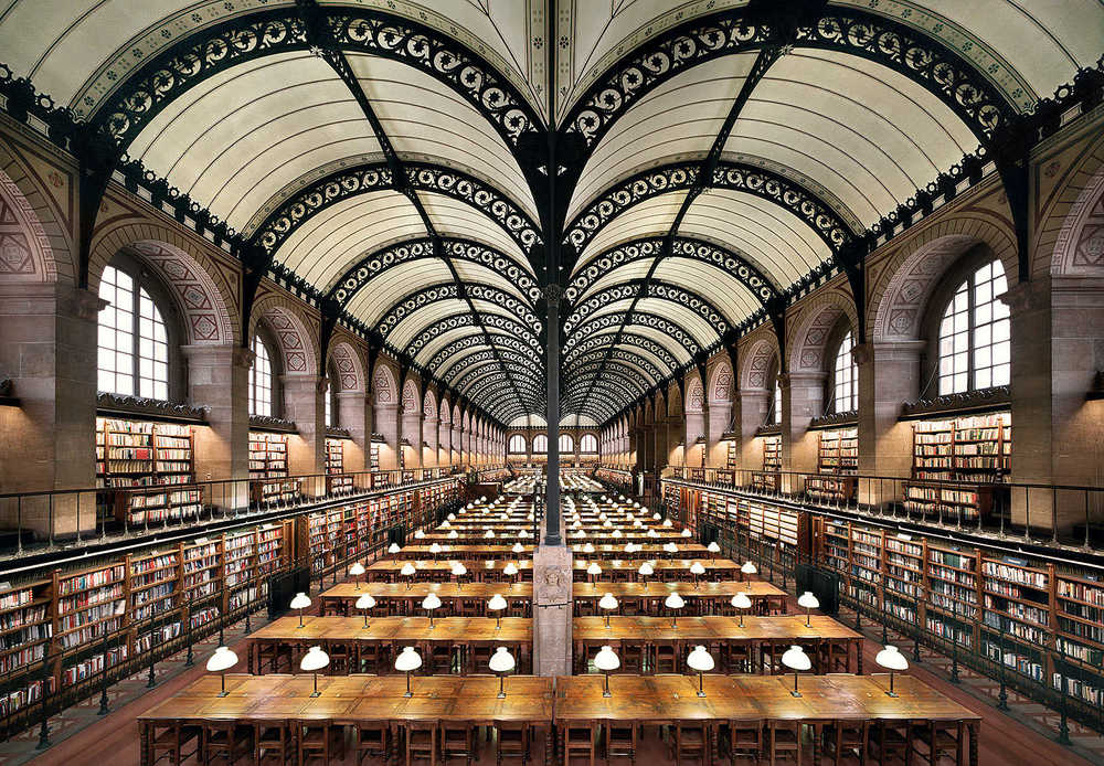 Sainte-Genevieve Library, Paris.   Photo Credit:  Lumas