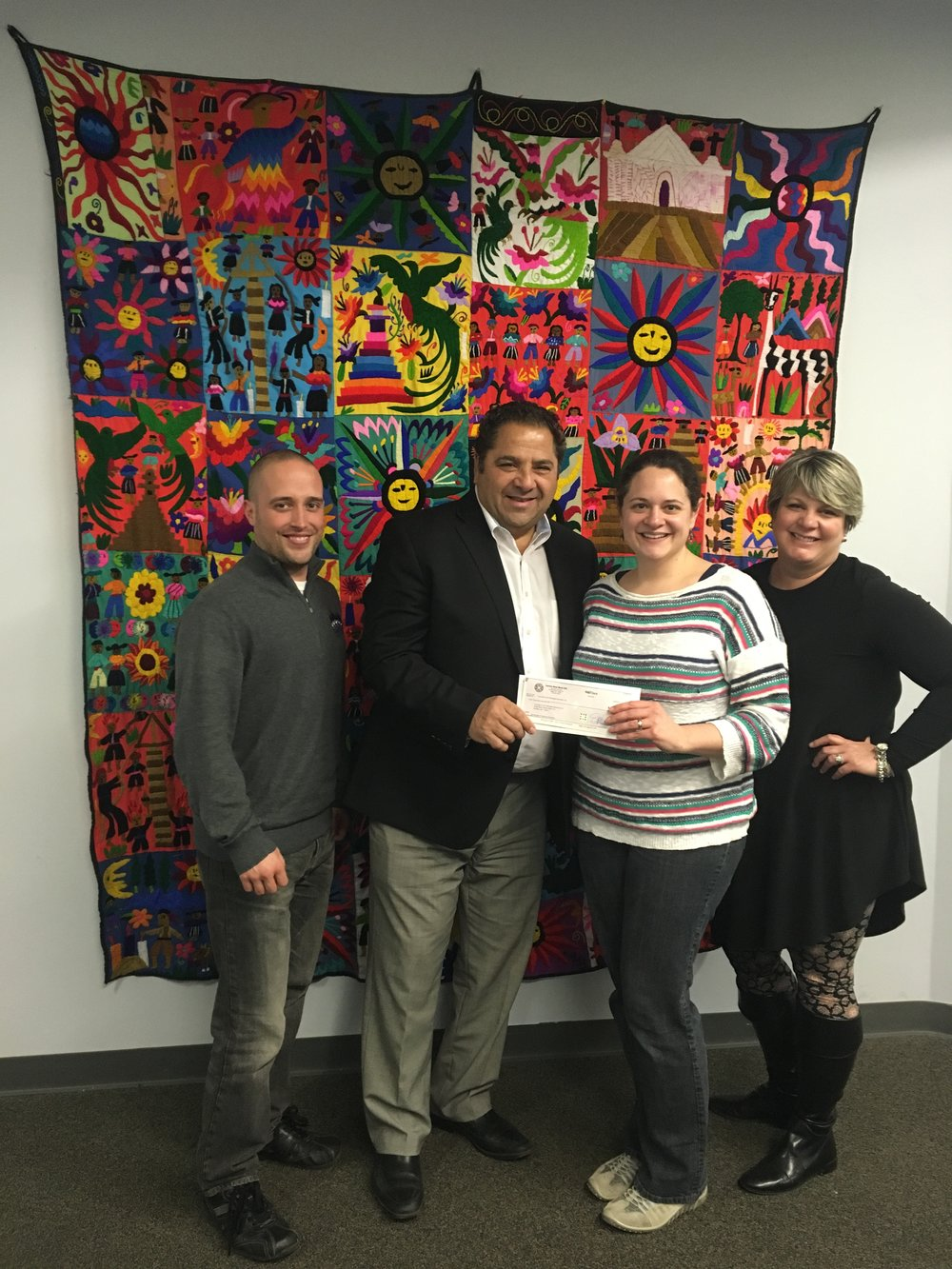 Pictured Left To Right: JERS Director of Finance, Jeff Knapp; Steven Carmina, Partner; Karen Andolina Scott; and Pamela Timby-Straitiff, Partner.