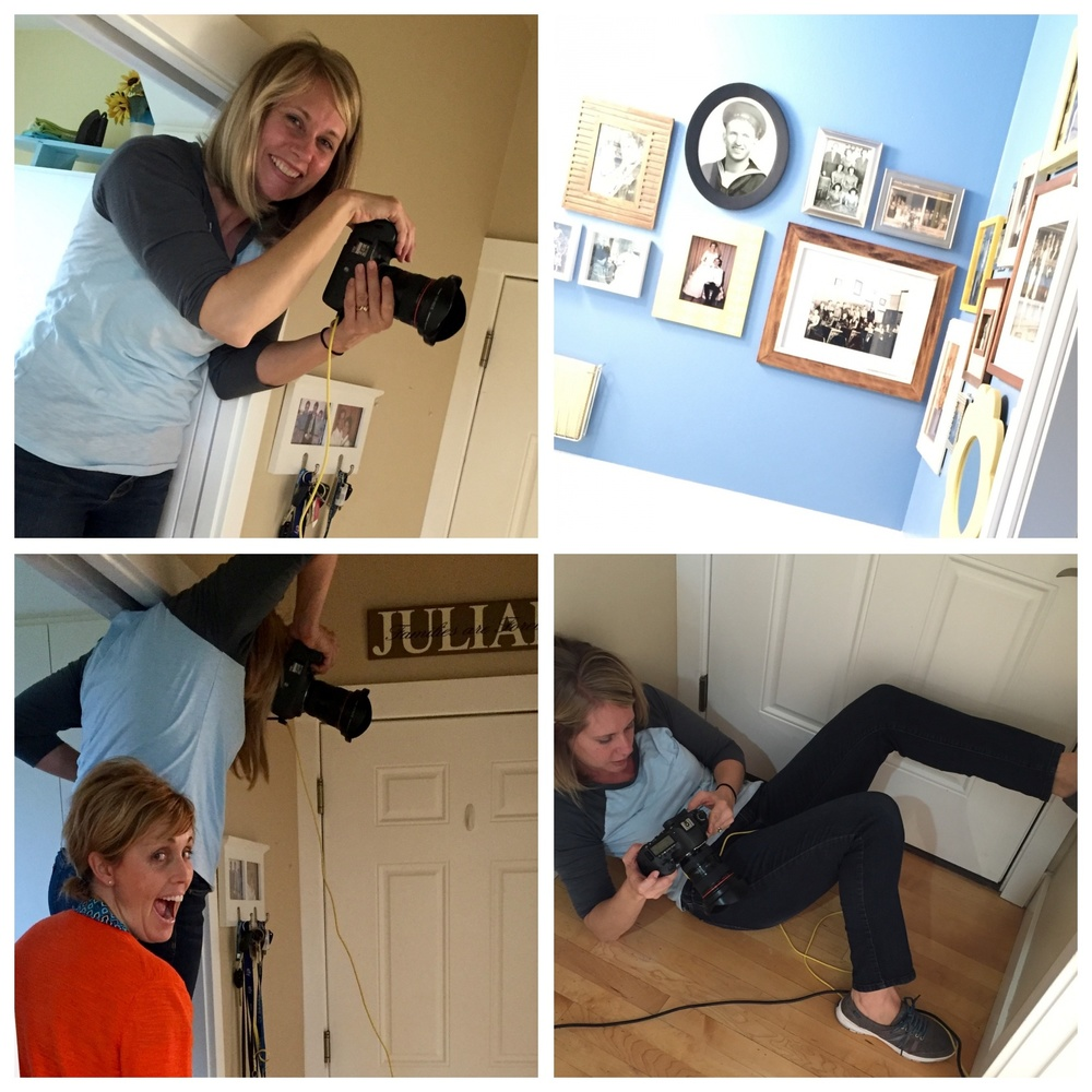 Fun memories of helping Mindy photograph my backdoor bathroom. No natural light whatsoever and it's super small, maybe 5 x 8?? We had to take off the door and set up lights and do all kinds of tricks. I'll be sharing this story and idea next week, right here!