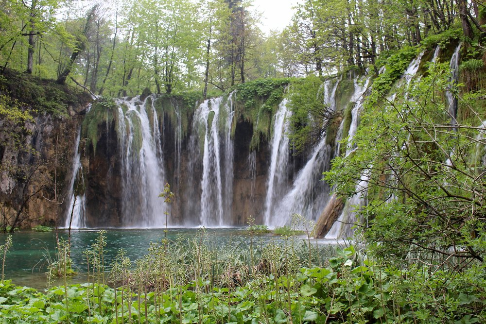 Incredible waterfalls at Plitvice National Park in Croatia