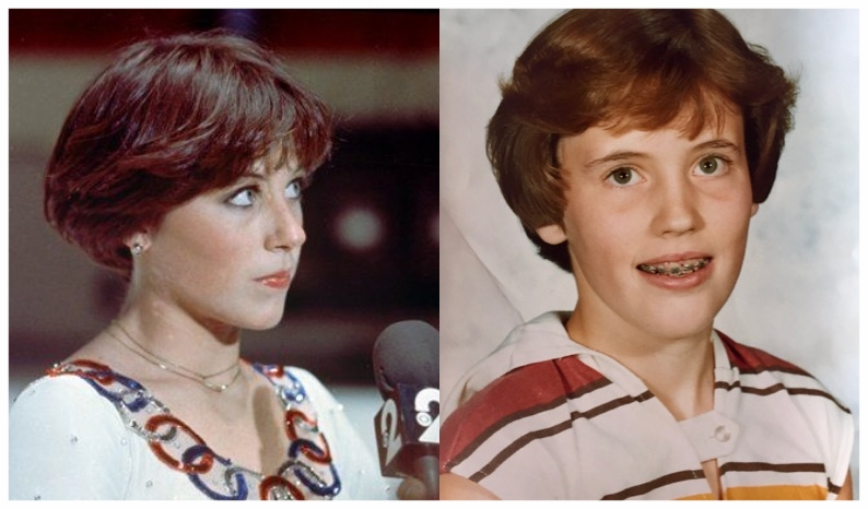 This is the best picture I could find of my  Dorothy Hamill  haircut!
