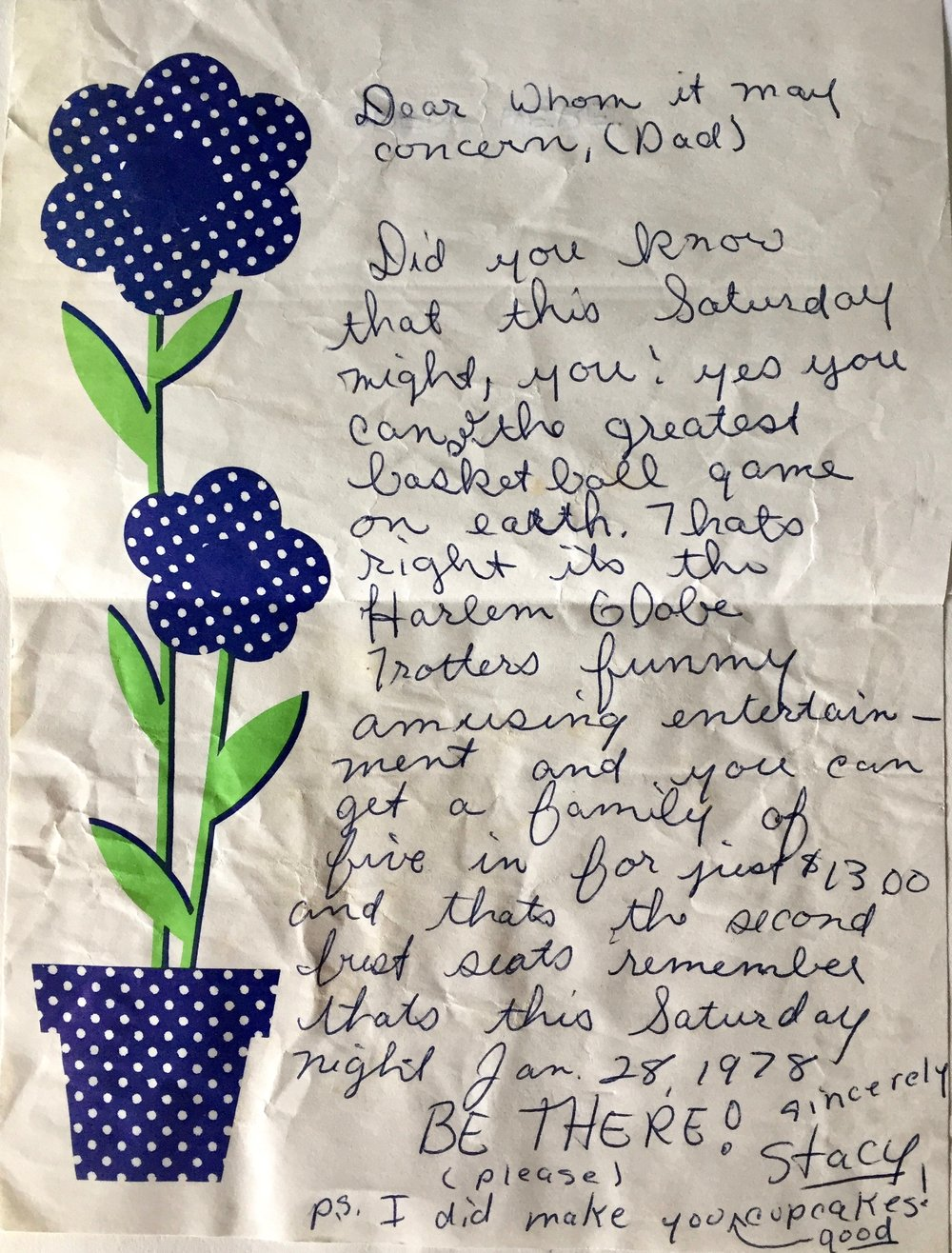 My letter written to my Dad, January 1978 Click to enlarge!