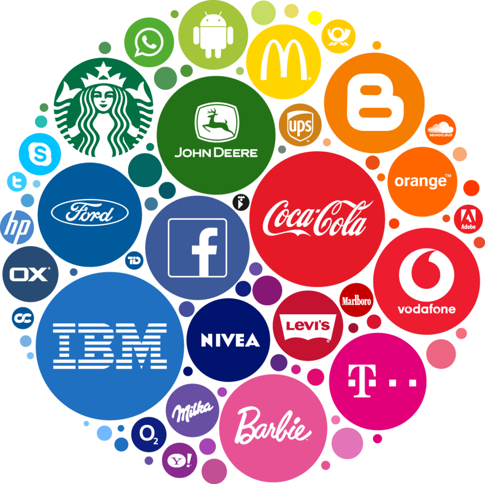 You may have seen this image before. I got it HERE. It's illustrative of the power of color for some of the biggest brands in the world. Click to enlarge!