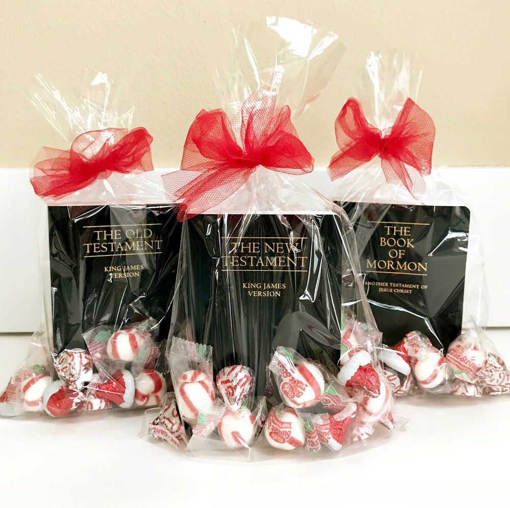 Just so you know, there are 25 verses and candies in The Old Testament and The Book of Mormon kits, and 31 verses and candies in The New Testament kit.