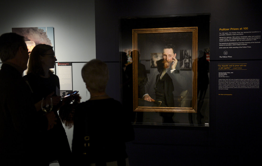 Joseph Pulitzer - Portrait Gallery Showing