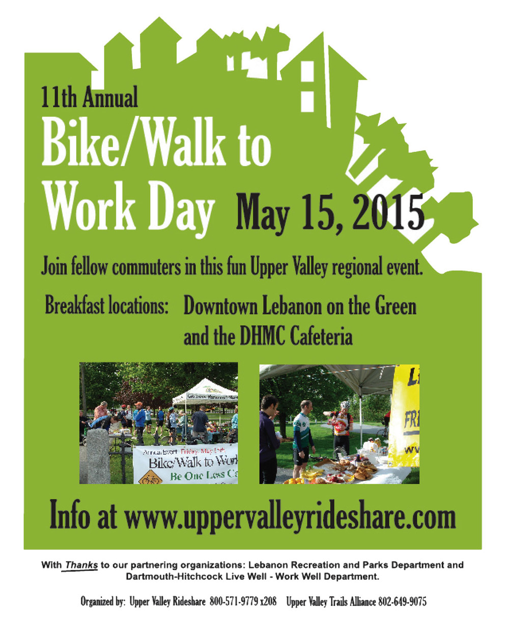 Over 90 people JOINEDthe 2015 Bike-Walk to Work Day event this year. Keep Biking all summer !!Click here for the eventinfo.