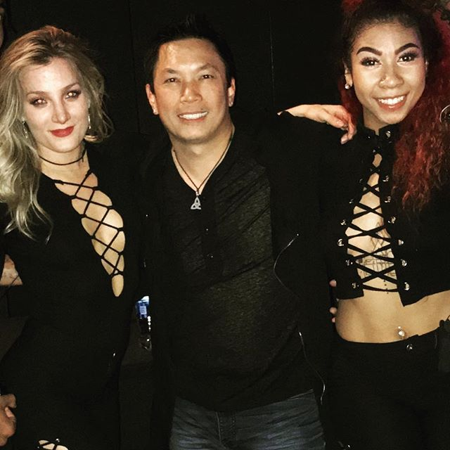 These ladies were awesome #backstage #jasonderulo #dancers #godaddy #holidayparty