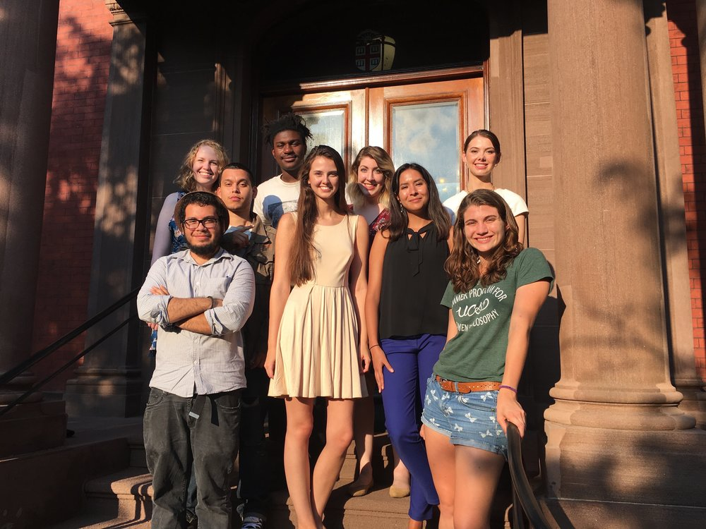 Top row, left to right: Michaela Garneau, Earvin Chavez, Mahmoud Jalloh, Crystal Hernandez, Anna Bates. Bottom row, left to right: Jean Amaya, Lucy Petroucheva, Aurora Llamas, Ariana Peruzzi.