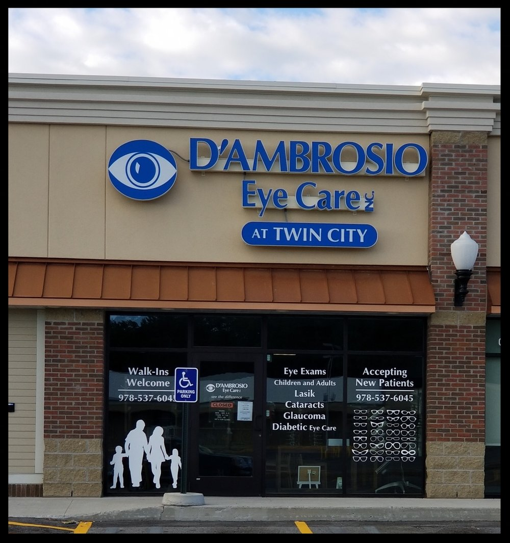 - D'Ambrosio Eye Care865 Merriam AveLeominster, MA 01453