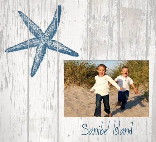 Starfish Picture Frame - PF8 — Paint the Town, Inc.