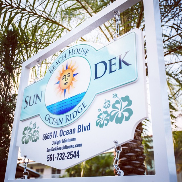 We are on Instagram! Visit us online to book your stay at Ocean Ridge, Florida