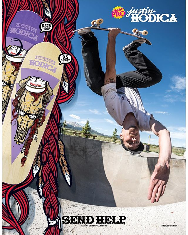 "as seen in the pages of the latest issue of @thrashermag... Justin ""@jMod"" Modica is now a professional skateboarder for SENDxHELP!! Modica ""Alter"" boards available in multiple shapes SOON as well as a full part dropping in the very near future!! congratulations Justin!! stay tuned for more!! #SENDxHELP 💜💜💜"