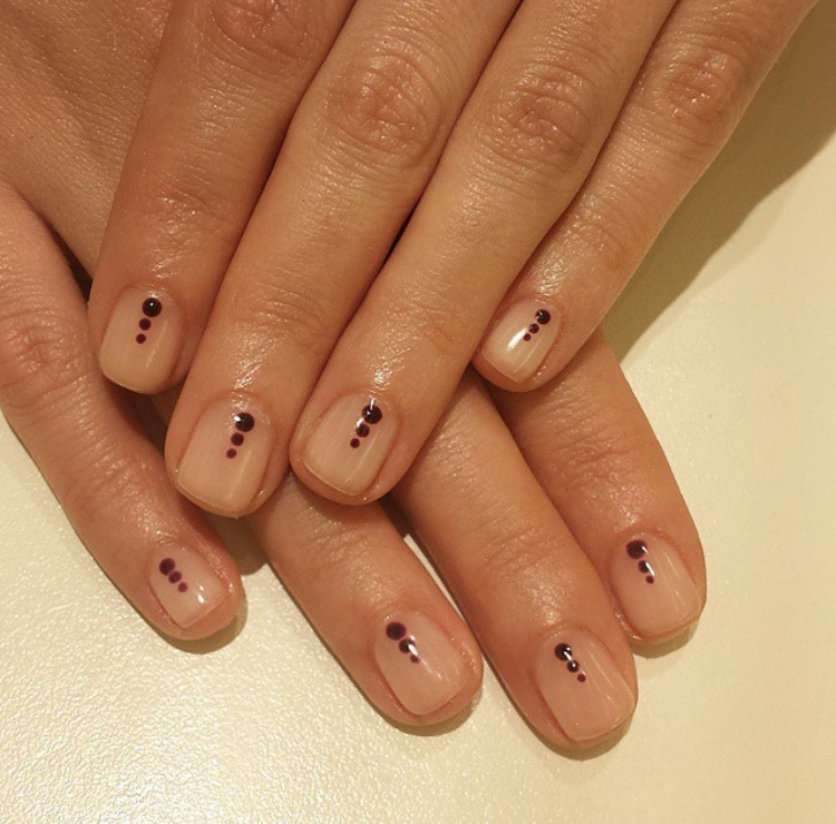 Gradient Dots on Nude