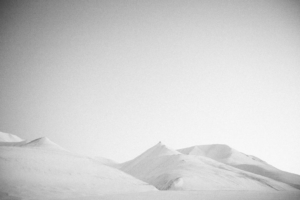 Svalbard, Longyearbyen, Norway. Minimalistic arctic nature.