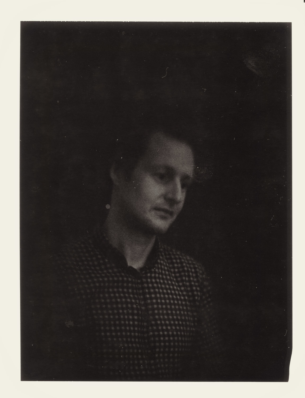 Lars on expired Polaroid on Sinar w. old Petzval